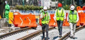 Supervisan avances del Tren Ligero
